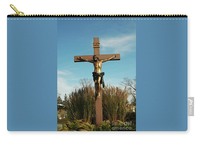 Jesus Carry-all Pouch featuring the photograph Amazing Love by Kathleen Struckle