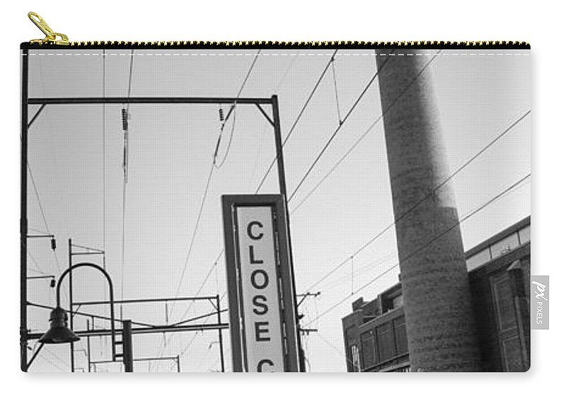 Ambler Carry-all Pouch featuring the photograph Ambler Smokestack by Photographic Arts And Design Studio