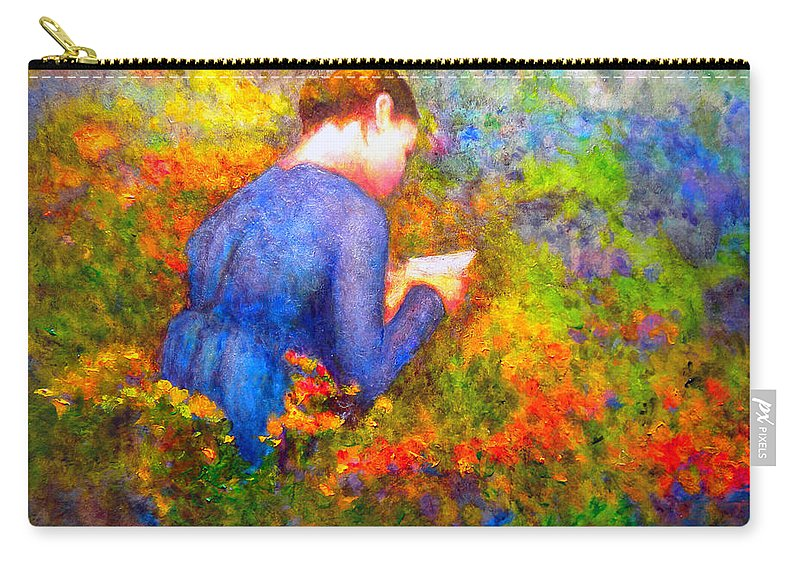 Impressionism Carry-all Pouch featuring the painting Ambrosia's Love Letter by Michael Durst