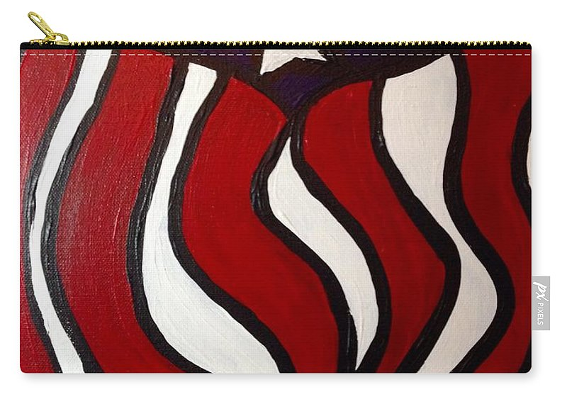Flag Carry-all Pouch featuring the painting America by Melissa Darnell Glowacki