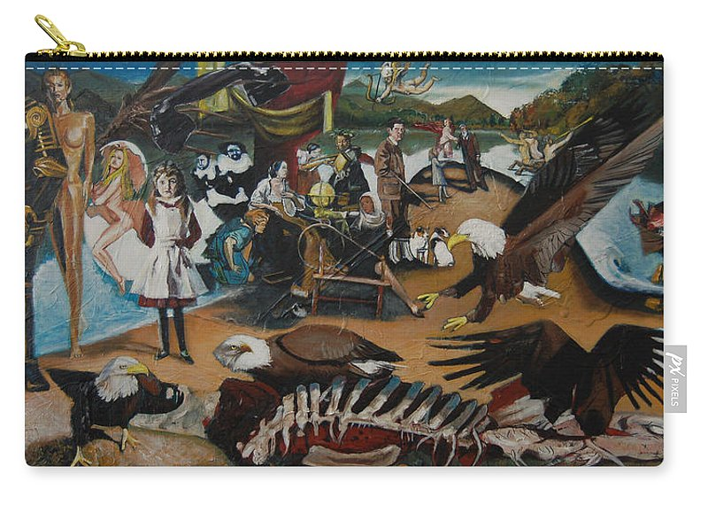 Unfinished Carry-all Pouch featuring the painting America The Beautiful by Jude Darrien