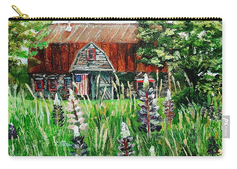 Barn Carry-all Pouch featuring the painting American Barn by Shana Rowe Jackson