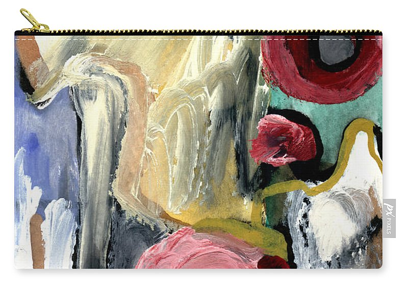 Abstract Art Carry-all Pouch featuring the painting American Beauty by Stephen Lucas