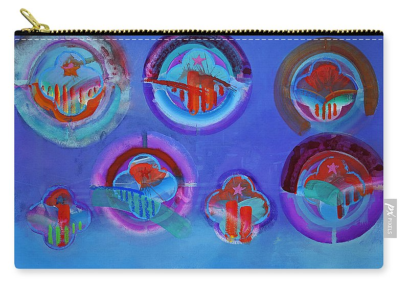 Texas Art Carry-all Pouch featuring the digital art American Blue by Charles Stuart