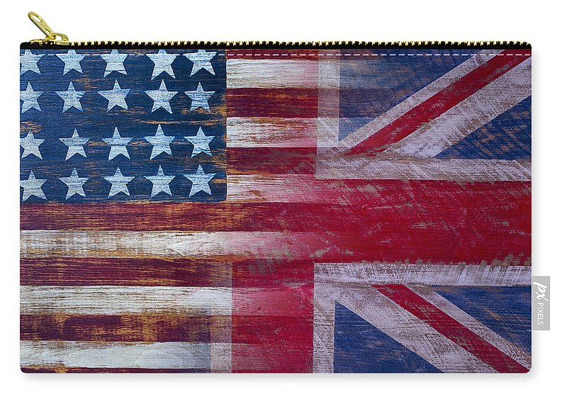 American Carry-all Pouch featuring the photograph American British Flag by Garry Gay
