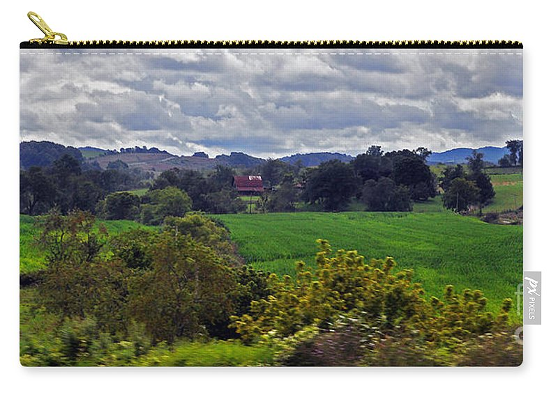 Farmland Carry-all Pouch featuring the photograph American Farmland 2 by Lydia Holly