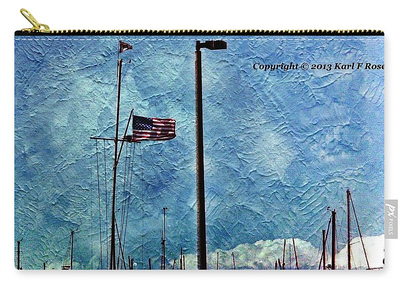Flags Carry-all Pouch featuring the photograph American Flag As A Painting by Karl Rose