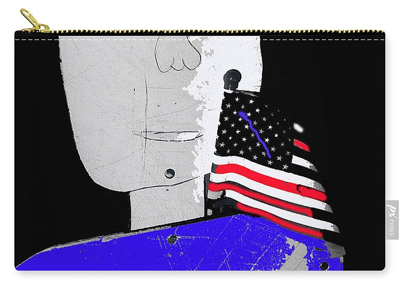 American Flag Collage Tucson Arizona Mid 1980's Color Added Carry-all Pouch featuring the photograph American Flag Collage Tucson Arizona Mid 1980's-2013 by David Lee Guss