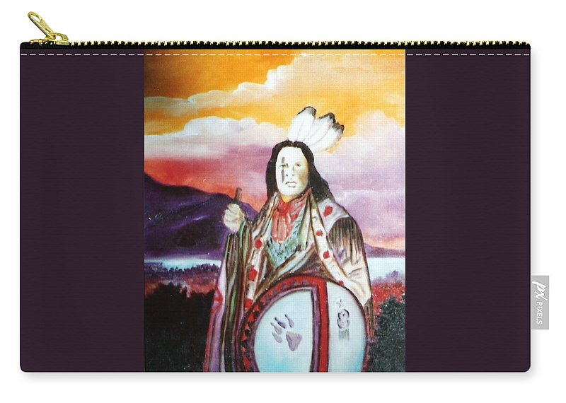 American Carry-all Pouch featuring the painting American by Lord Frederick Lyle Morris - Disabled Veteran