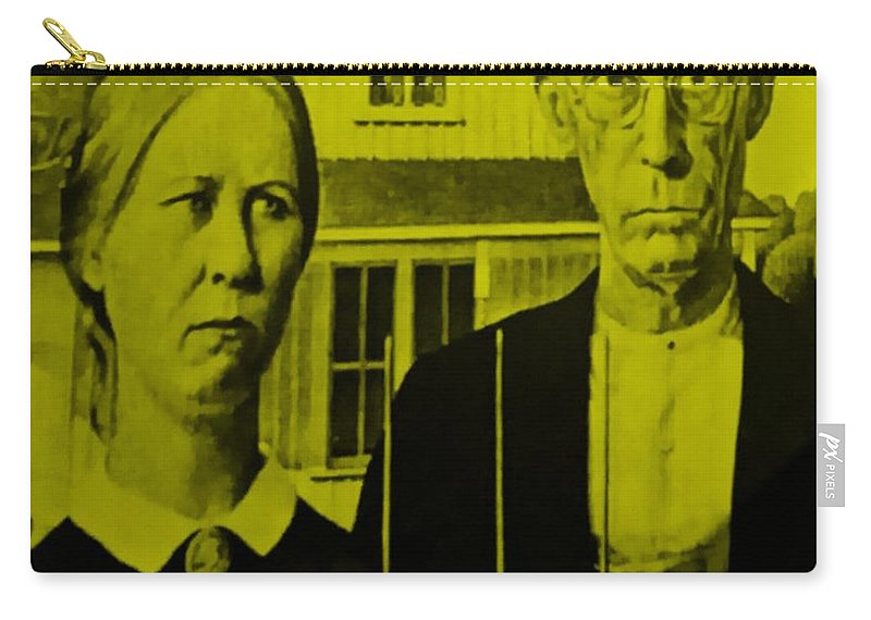 Americana Carry-all Pouch featuring the photograph American Gothic In Yellow by Rob Hans