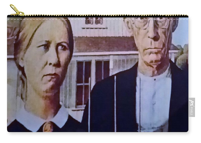 Americana Carry-all Pouch featuring the photograph American Gothic by Rob Hans