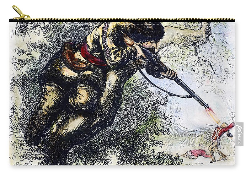 1780s Carry-all Pouch featuring the photograph American Marksman by Granger