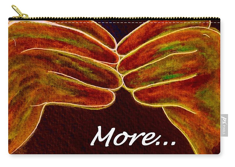 More Carry-all Pouch featuring the painting American Sign Language More by Eloise Schneider Mote