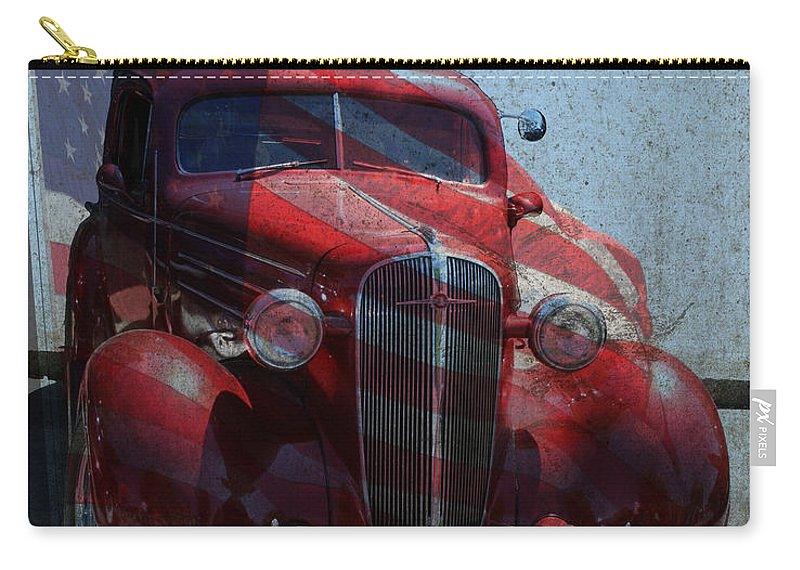Chevy Carry-all Pouch featuring the photograph Americana Nbr 1 by Lesa Fine