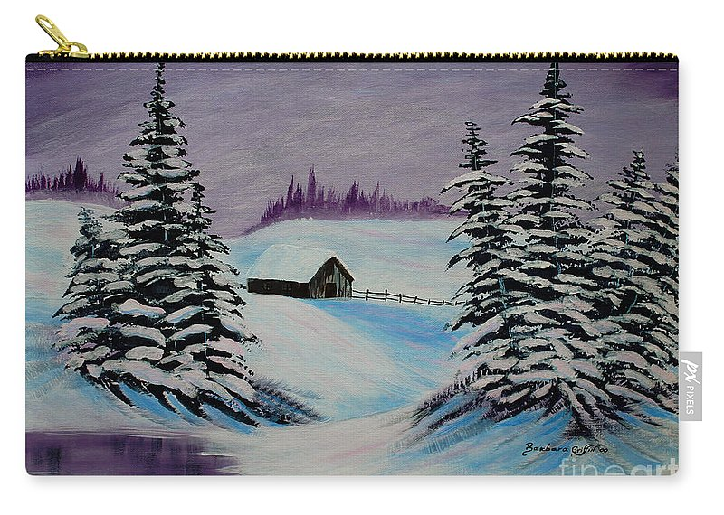 Barbara Griffin Carry-all Pouch featuring the painting Amethyst Evening After Ross by Barbara Griffin
