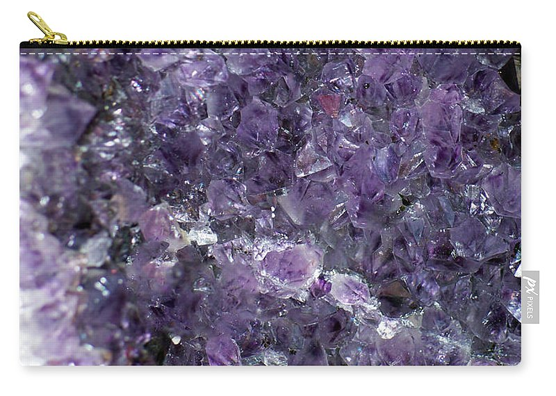 Mineral Carry-all Pouch featuring the photograph Amethyst Geode II by Tikvah's Hope