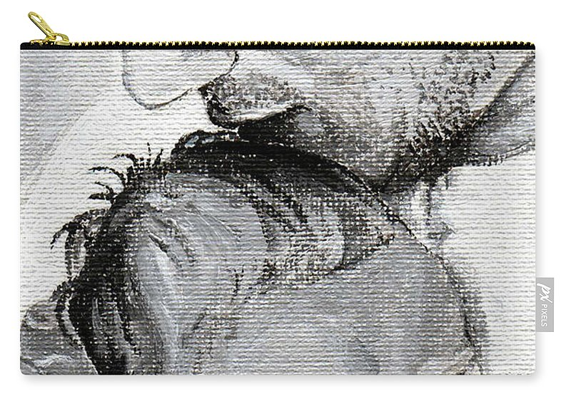 Father Carry-all Pouch featuring the painting Amit And Mika by Tamir Barkan