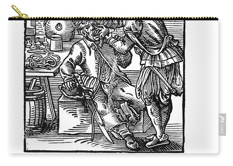 1568 Carry-all Pouch featuring the photograph Amman: Dentist, 1568 by Granger
