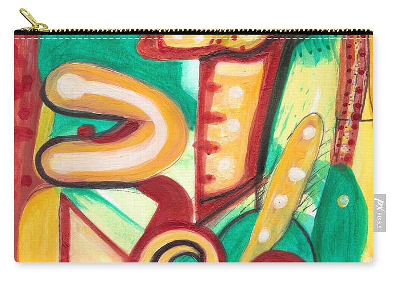 Abstract Art Carry-all Pouch featuring the painting Amanita Muscaria by Stephen Lucas