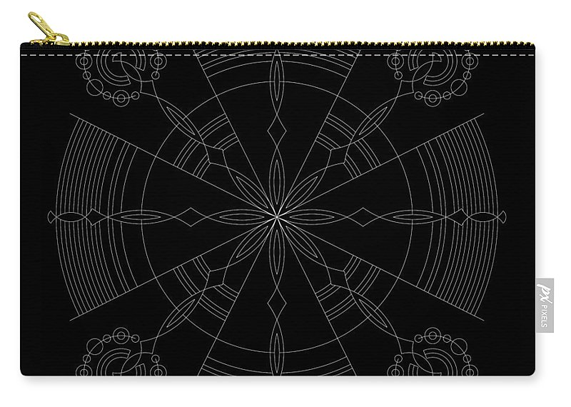 Relief Carry-all Pouch featuring the digital art Amplitude Inverse by DB Artist