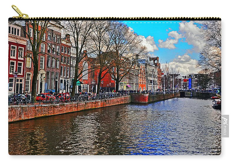 Travel Carry-all Pouch featuring the photograph Amsterdam Canal In Spring by Elvis Vaughn