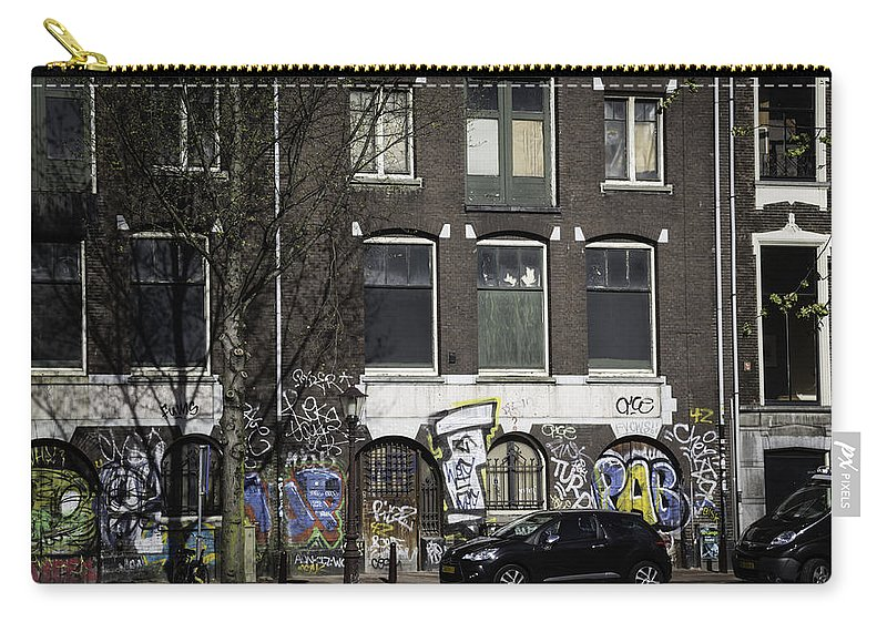 2014 Carry-all Pouch featuring the photograph Amsterdam Graffiti by Teresa Mucha