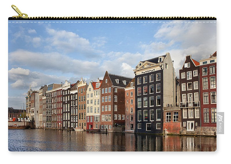 Amsterdam Carry-all Pouch featuring the photograph Amsterdam Old Town At Sunset by Artur Bogacki