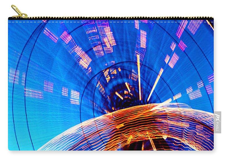 Amusement Park Carry-all Pouch featuring the photograph Amusement Park Rides 1 by Steve Ohlsen