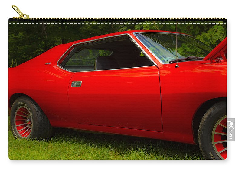 Amx Muscle Car Carry-all Pouch featuring the photograph Amx Muscle Car by Karol Livote