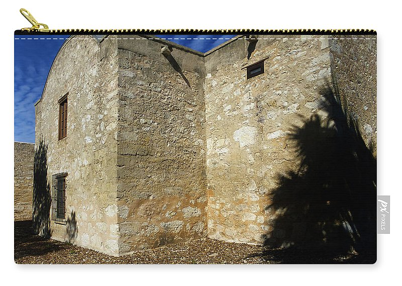 Arizona Carry-all Pouch featuring the photograph An Alamo View by Phill Doherty