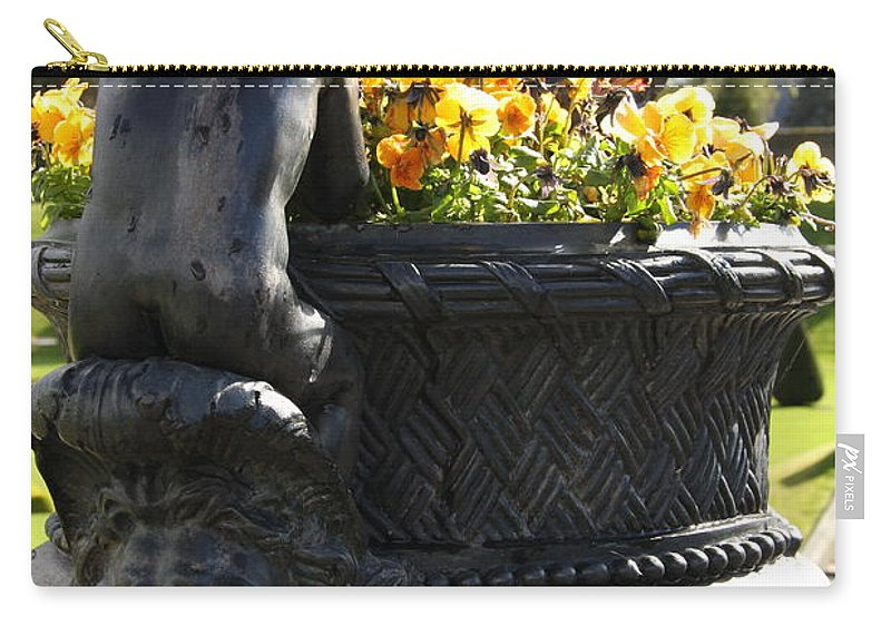 Angel Carry-all Pouch featuring the photograph An Angels Backside by Christiane Schulze Art And Photography