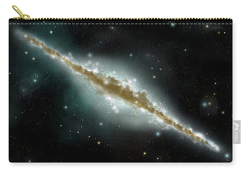 Dust Carry-all Pouch featuring the digital art An Artists Depiction Of A Large Spiral by Marc Ward/stocktrek Images