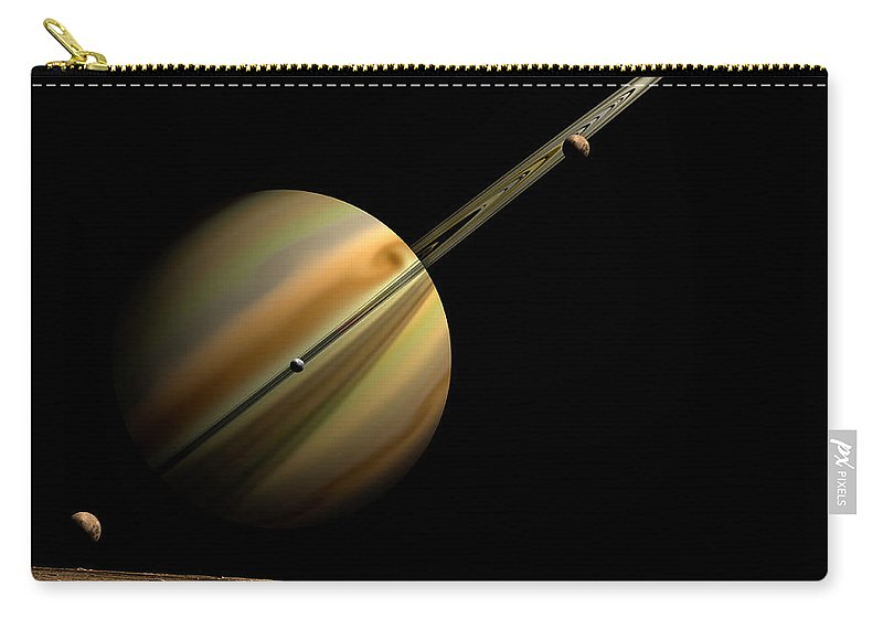Shadow Carry-all Pouch featuring the digital art An Artists Depiction Of A Ringed Gas by Marc Ward/stocktrek Images
