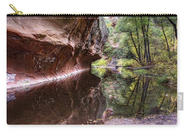 West Fork Carry-all Pouch featuring the photograph An Autumn Day In West Fork by Saija Lehtonen