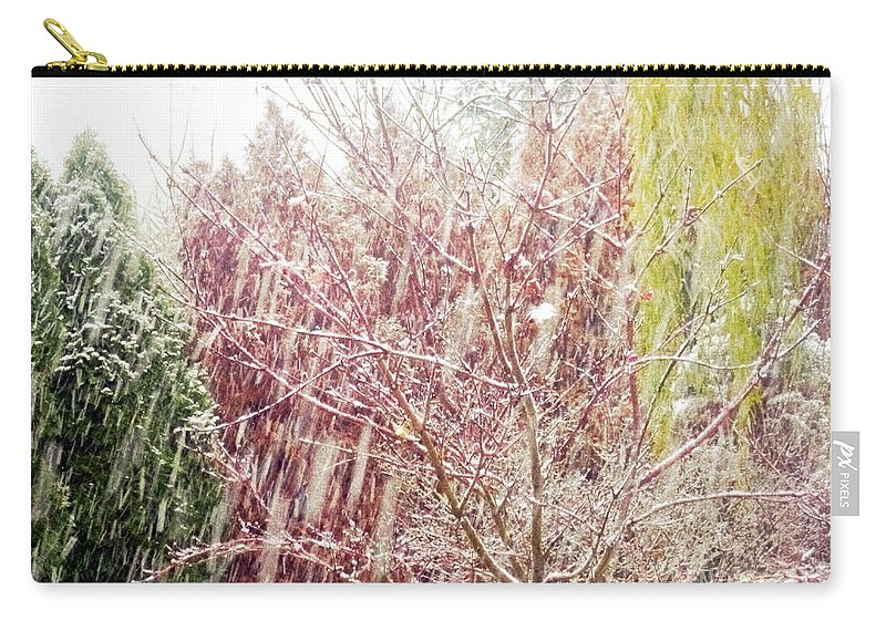 Snow Carry-all Pouch featuring the photograph An Early Snowfall by Alys Caviness-Gober