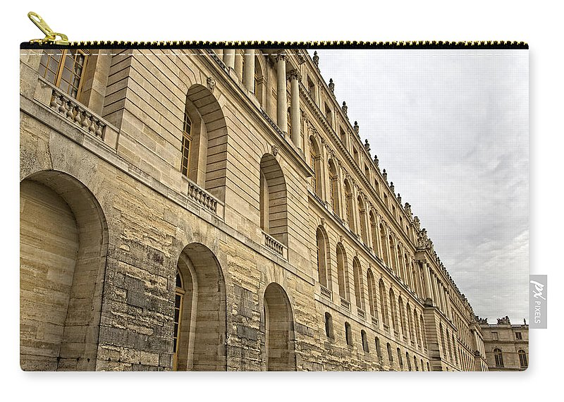 Versailles Carry-all Pouch featuring the photograph An Imposing View Of The Palace by Hany J
