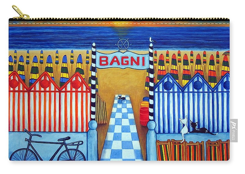 Italy Carry-all Pouch featuring the painting An Italian Summer's End by Lisa Lorenz