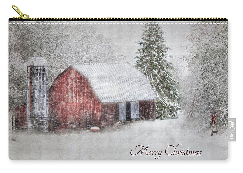 Christmas Carry-all Pouch featuring the photograph An Old Fashioned Merry Christmas by Lori Deiter