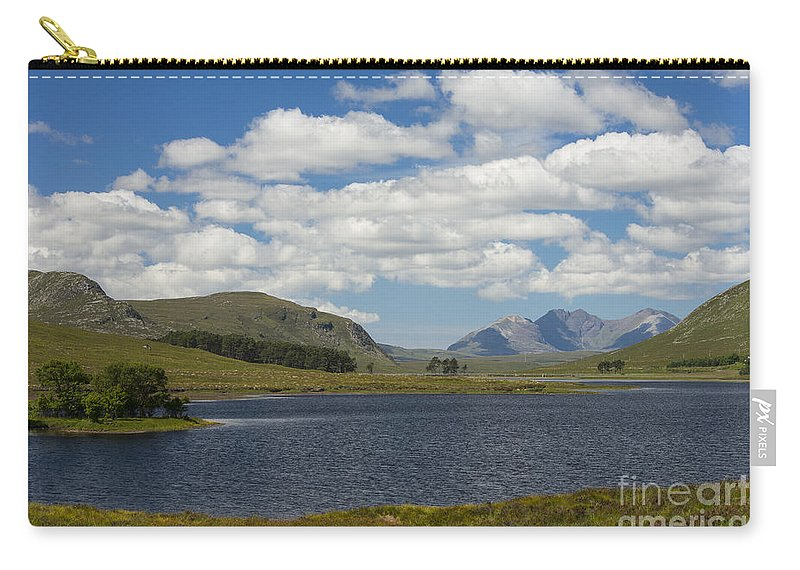 An Teallach Carry-all Pouch featuring the photograph An Teallach From Loch Droma by Howard Kennedy