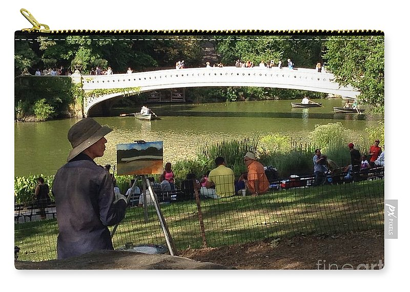 Artist Carry-all Pouch featuring the photograph A Typical Sunday Afternoon by Christy Gendalia