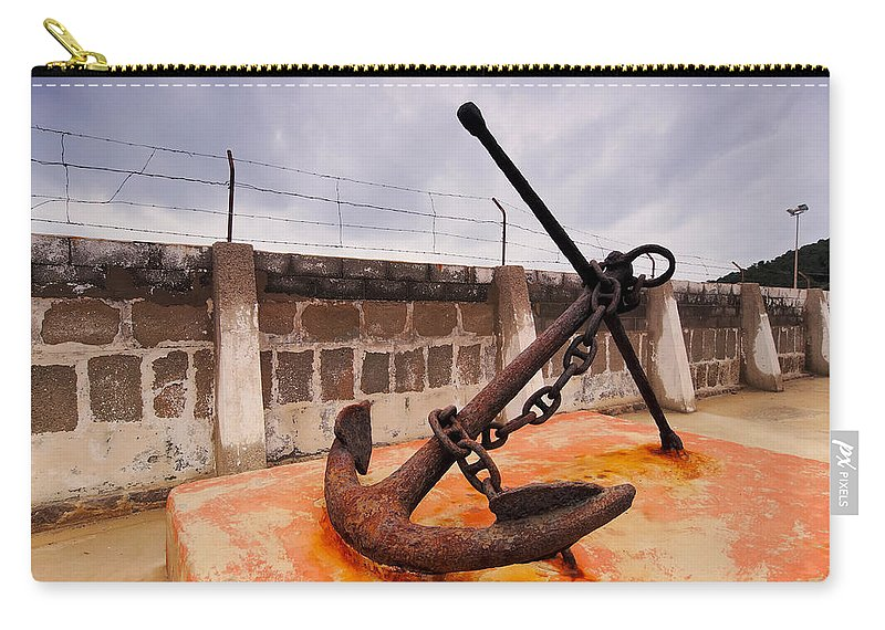 Anchor Carry-all Pouch featuring the photograph Anchor In La Canal by Karol Kozlowski