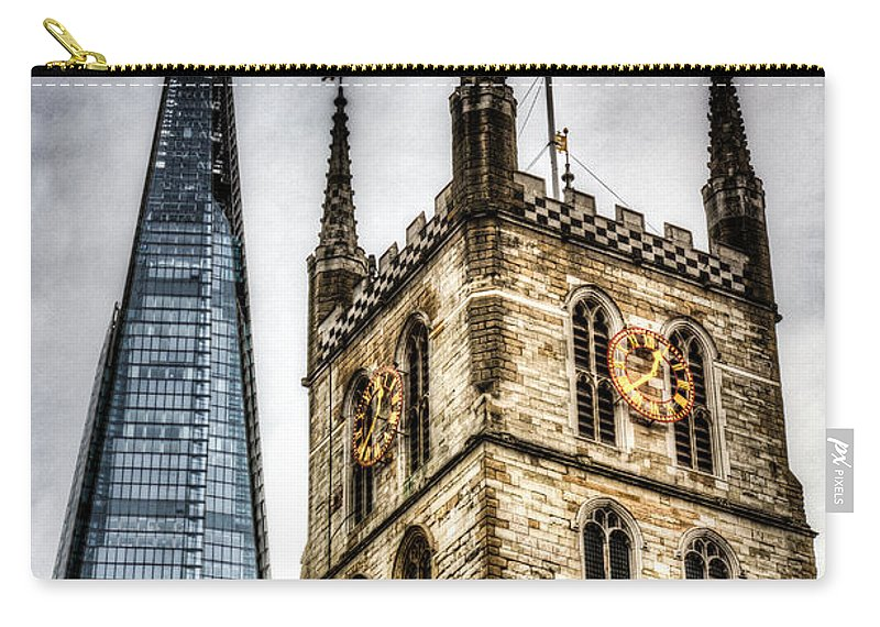 Southwark Carry-all Pouch featuring the photograph Ancient And Modern by David Pyatt