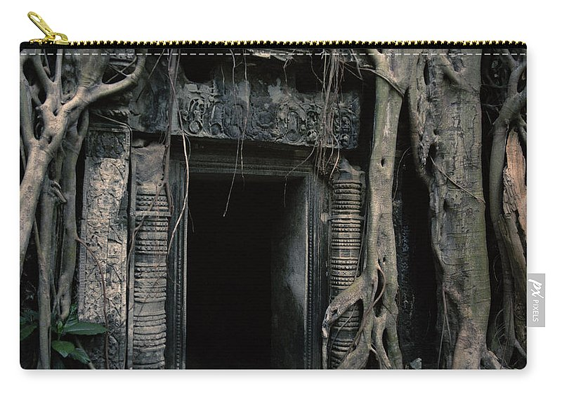 Angkor Wat Carry-all Pouch featuring the photograph Ancient Angkor Cambodia by Shaun Higson