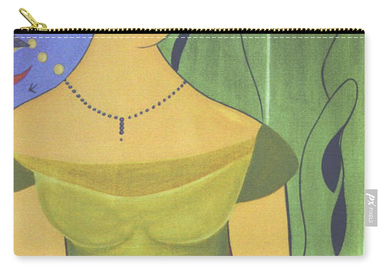 #female Carry-all Pouch featuring the painting Ancient Beauty by Jacquelinemari