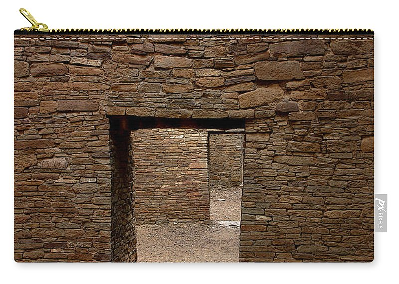 Anasazi Carry-all Pouch featuring the photograph Ancient Gallery by Joe Kozlowski