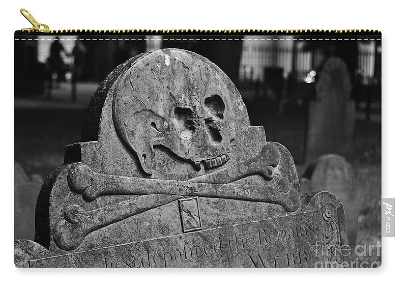 Stone Carry-all Pouch featuring the photograph Ancient Gravestone by Staci Bigelow