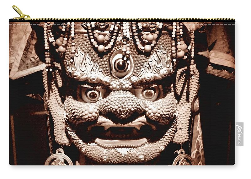 Mask Carry-all Pouch featuring the photograph Ancient Mask by Dan Sproul