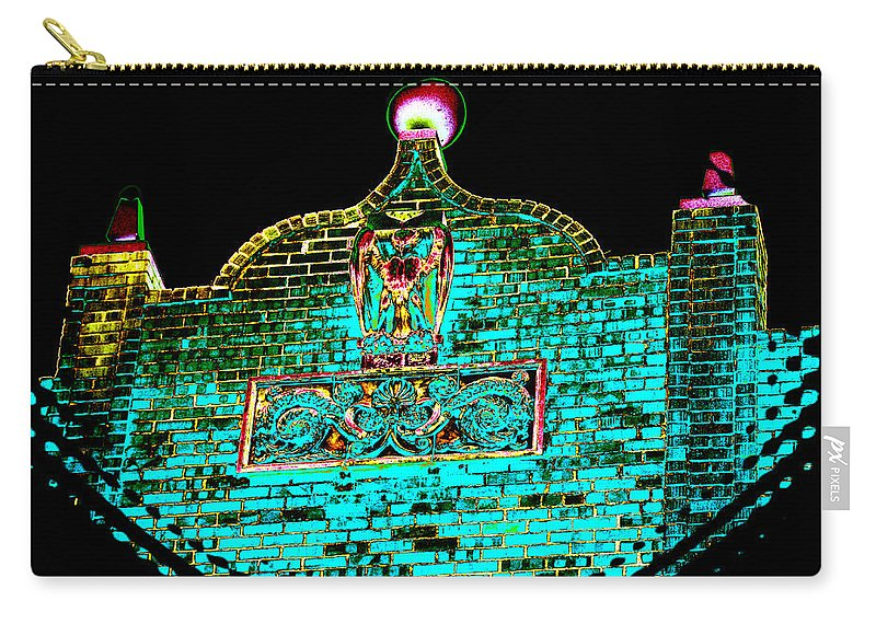 Bricks Carry-all Pouch featuring the photograph Ancient Morrocan Nights by Bobbie Barth