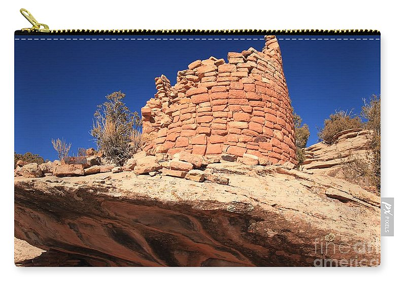 Canyon Of The Ancients Carry-all Pouch featuring the photograph Ancient Pueblo by Adam Jewell