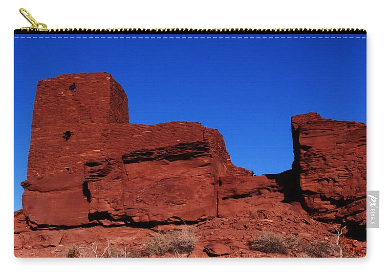 Wukoki Carry-all Pouch featuring the photograph Ancient Pueblo by Alan Socolik